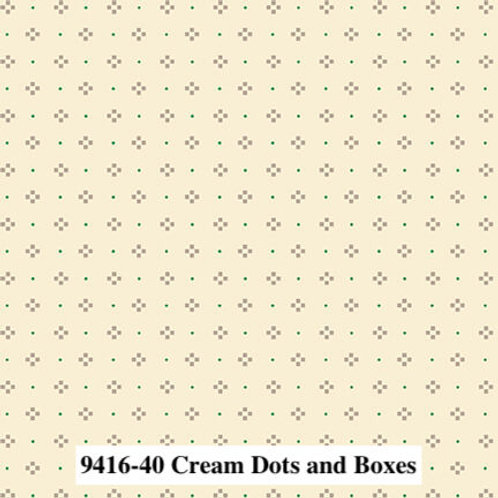 Dots & Boxes Cream