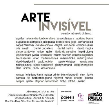 Exposição 'Arte Invisível'