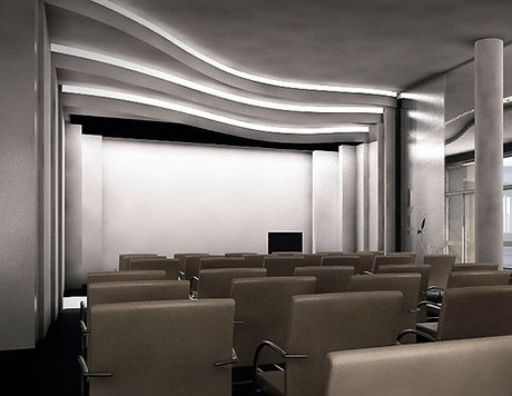 Hotel konferenciaterem belsőépítészet