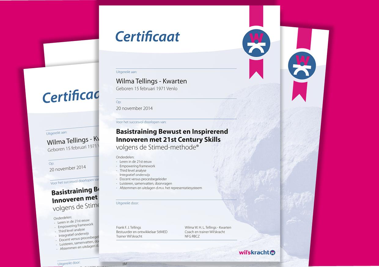 Certificaten - Wil'skracht