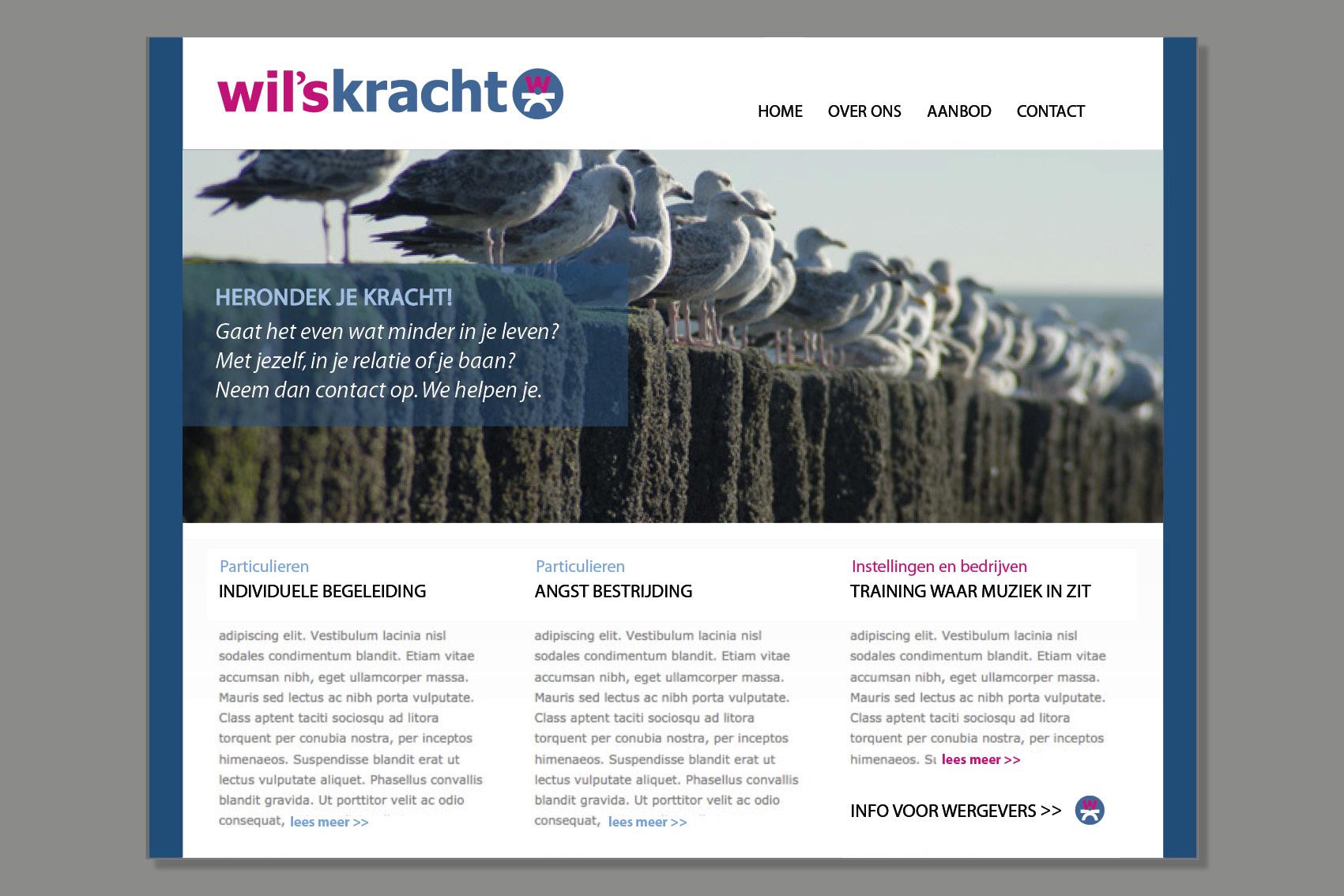 Ontwerp website - Wil'sKracht