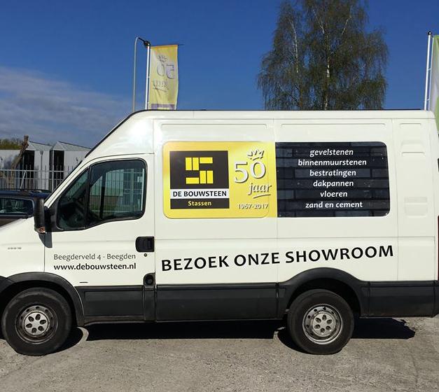 Belettering - De Bouwsteen Stassen