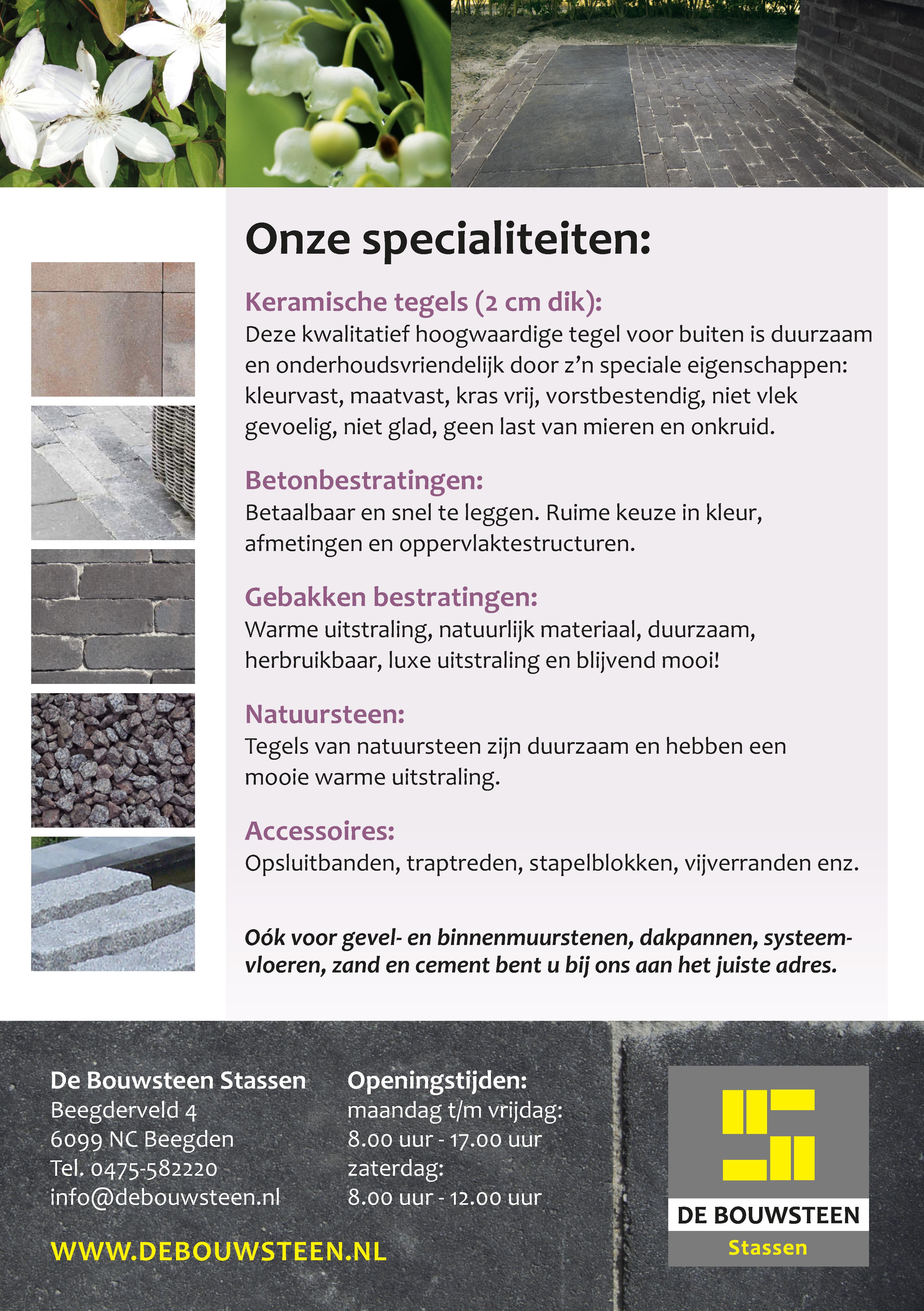 Flyer - De Bouwsteen