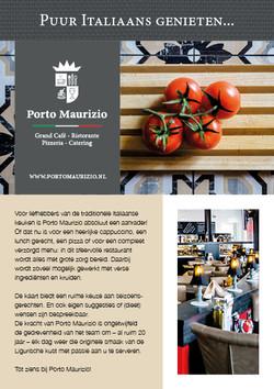 Flyers en menukaarten - Porto Maurizio