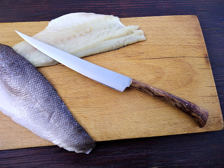 Filleting Knife with Spalted Elm Handle