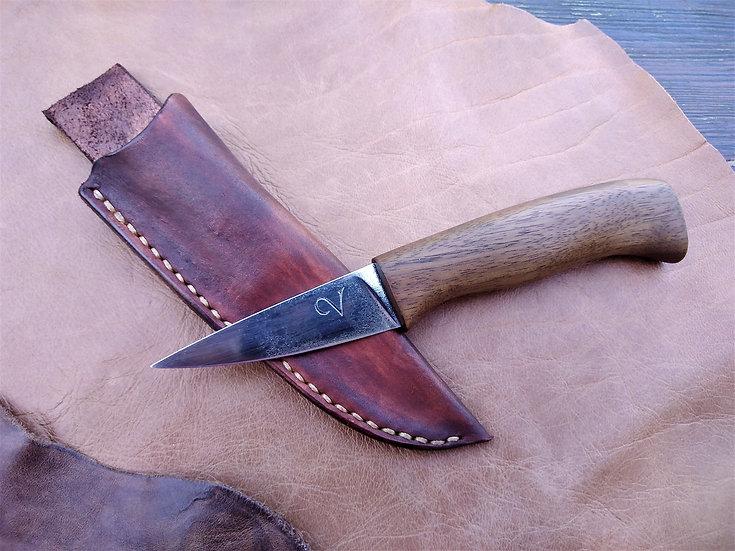 Utility Knife With Walnut Handle