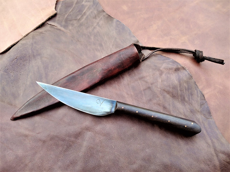 Medieval Eating Knife with Walnut Handle