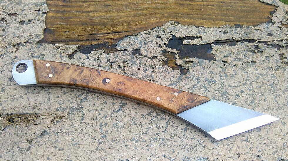 Large Kiridashi Marking Knife with Oak Burr Handle
