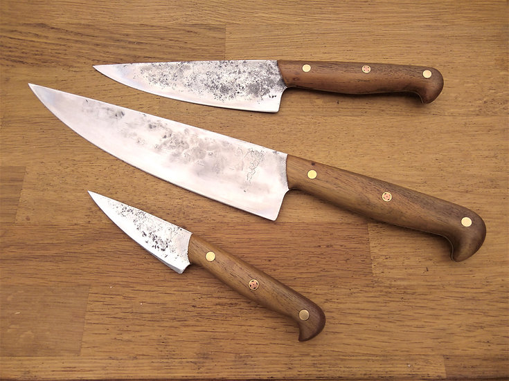 Teak Early 20th C Three Knife Set