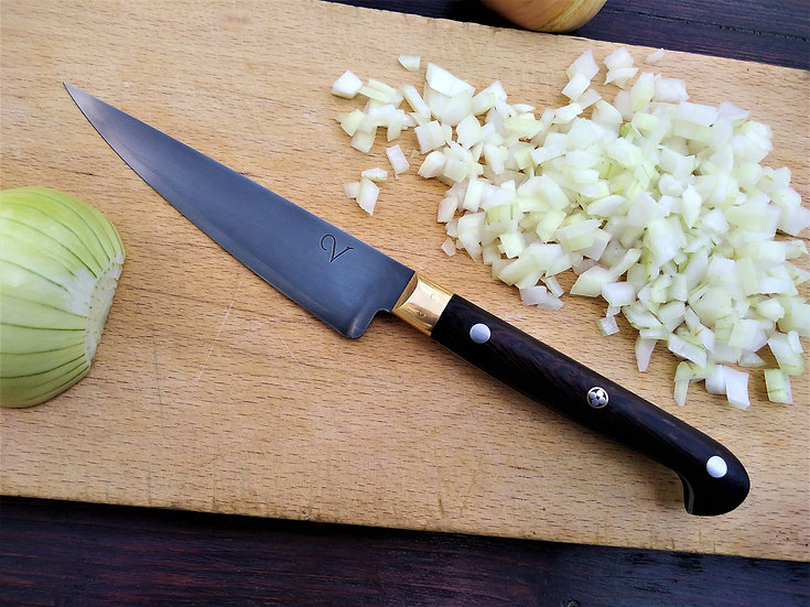 Small Edwardian Kitchen Knife with Wenge Handle