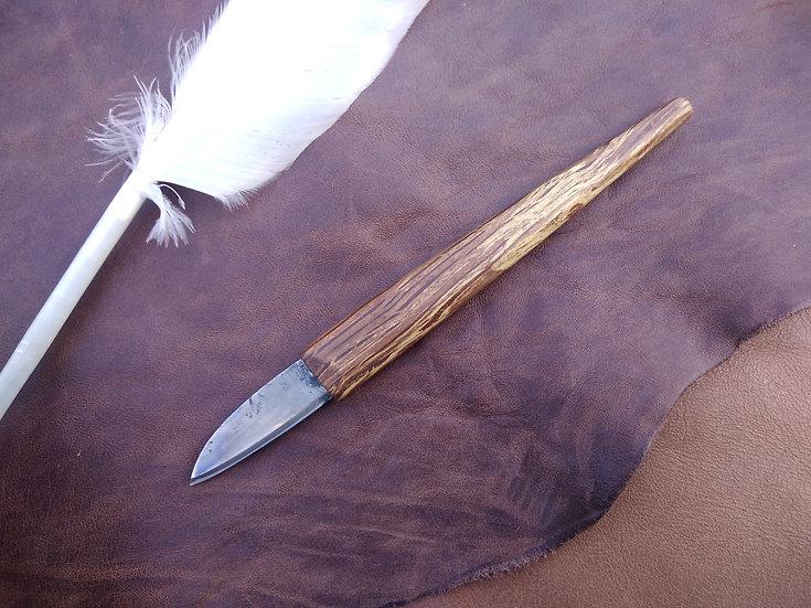 Spalted Oak Straight Pen Knife