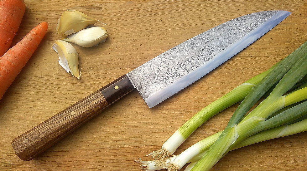 Furnace-Textured Japanese Style Chef's Knife