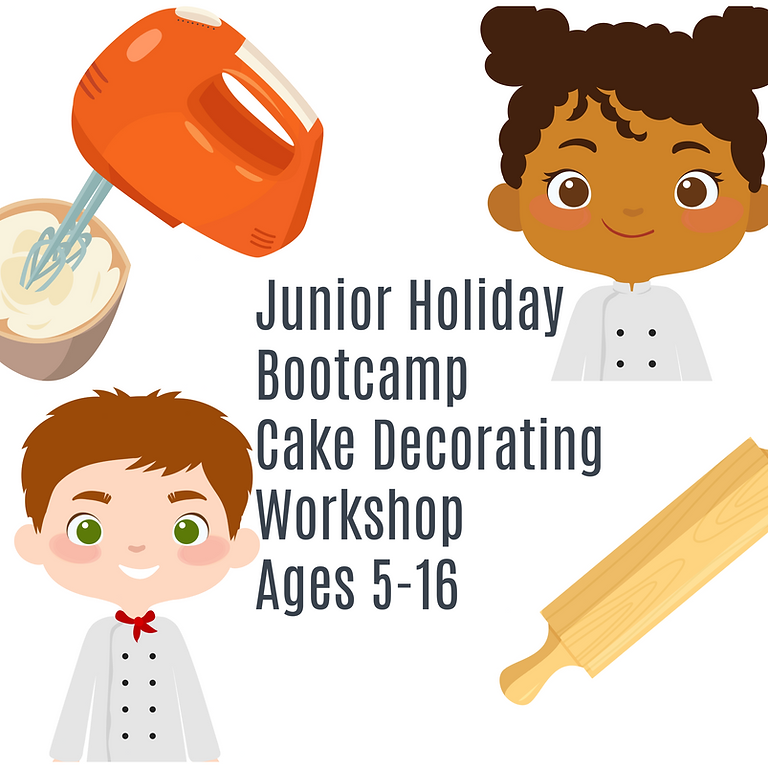 SUMMER HOLIDAY Children's Bootcamp Cake Decorating Workshop.