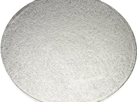 "Silver Round Thick Cake Board 11"" (Drum)"