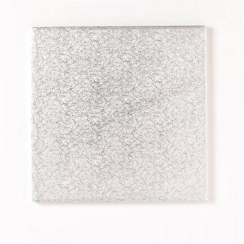 """Silver Square Thick Cake Board 11"""" (Drum)"""