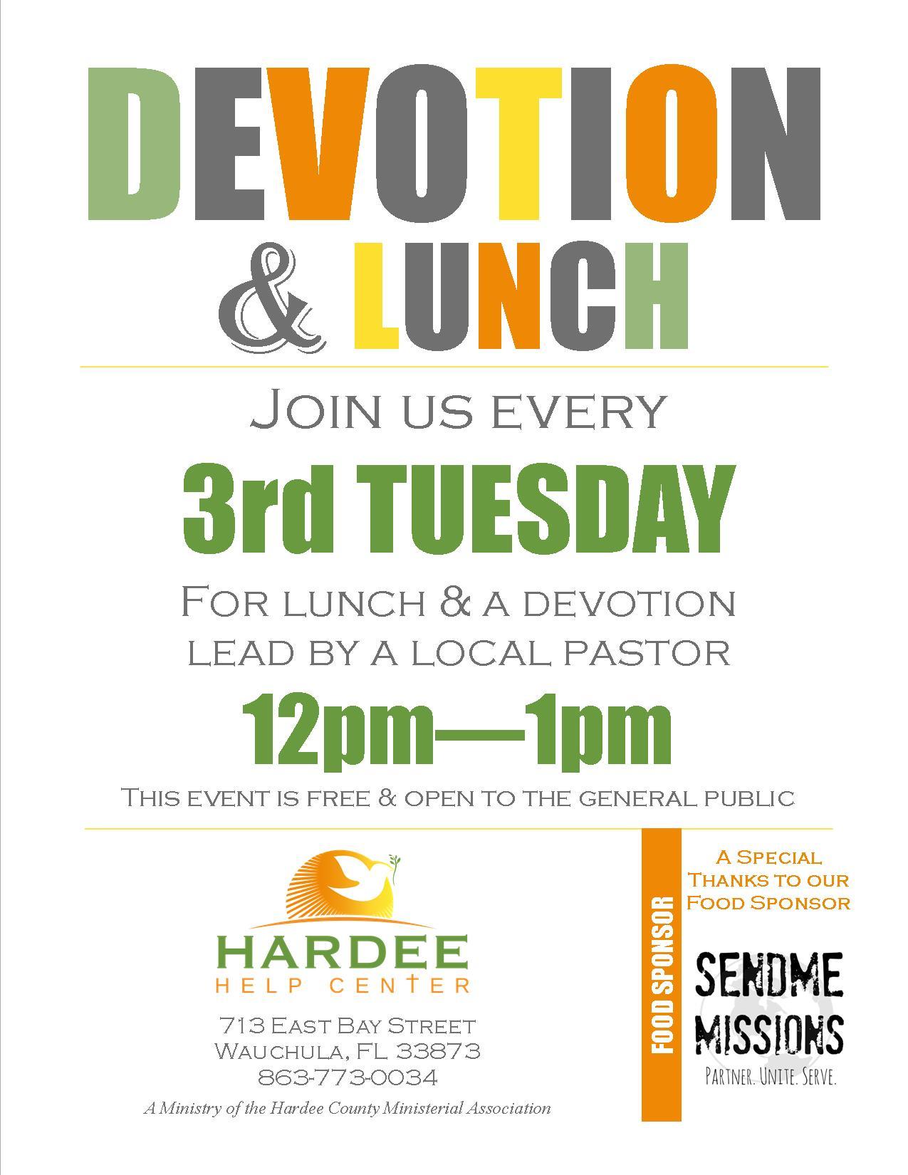 Devotion & Lunch