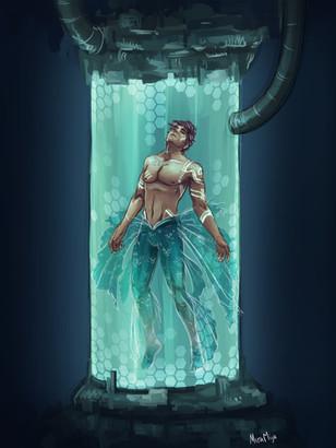 Captured Merman