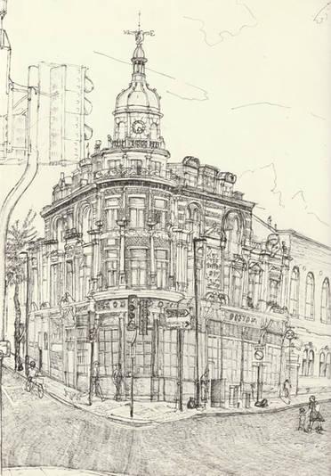 'The Boston', 21x29cm, Pen on Paper. - P