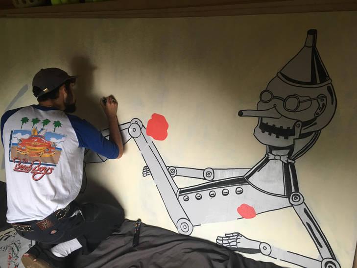 Commissioned mural for Trunchonbury Music Festival (2018)
