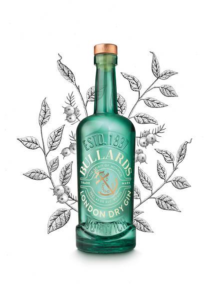 Botanical Illustration for Bullards Spirits, London Dry Gin
