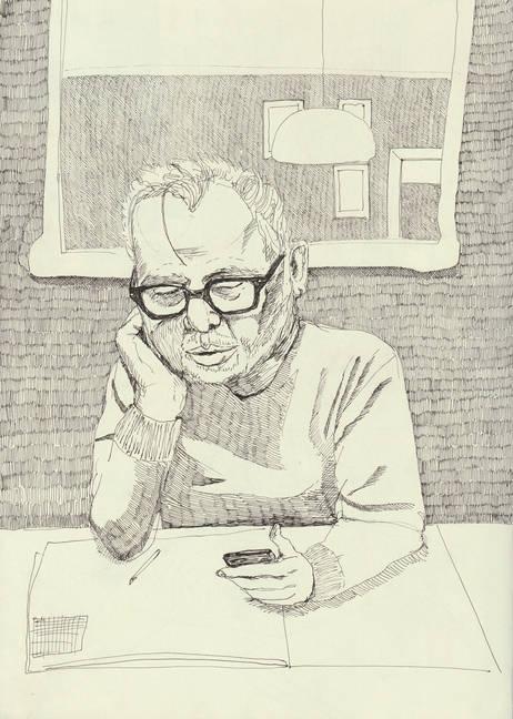 Dad On Phone_21x29.7cm_PenOnPaper.jpg