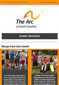 The Arc of South Carolina October 2017 Newsletter