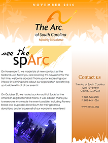 The Arc of South Carolina November 2016 Newsletter