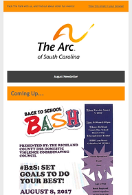 The Arc of Souh Carolina August 2017 Newsletter