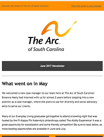 The Arc of Sout Carolina June 201 Newsletter