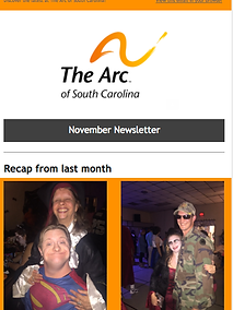 The Arc of South Carolina November 2017 Newsletter