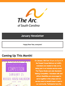 The Arc of South Carolina December 2017 Newsletter