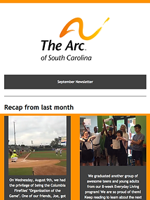 The Arc of South Carolina September 2017 Newsletter