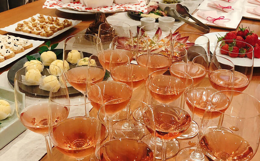 vin rosé mariage lesson New Year's party