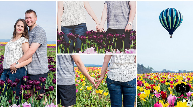 Josh & Jen {Woodburn Oregon Tulip Festival engagement Photographer}