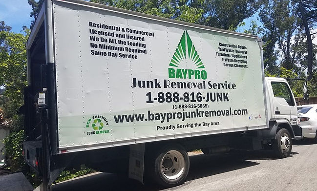 Baypro Junk removal we have bigger truck than the competitions.