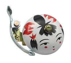Crane Handpainted Suzu Bell - Onna