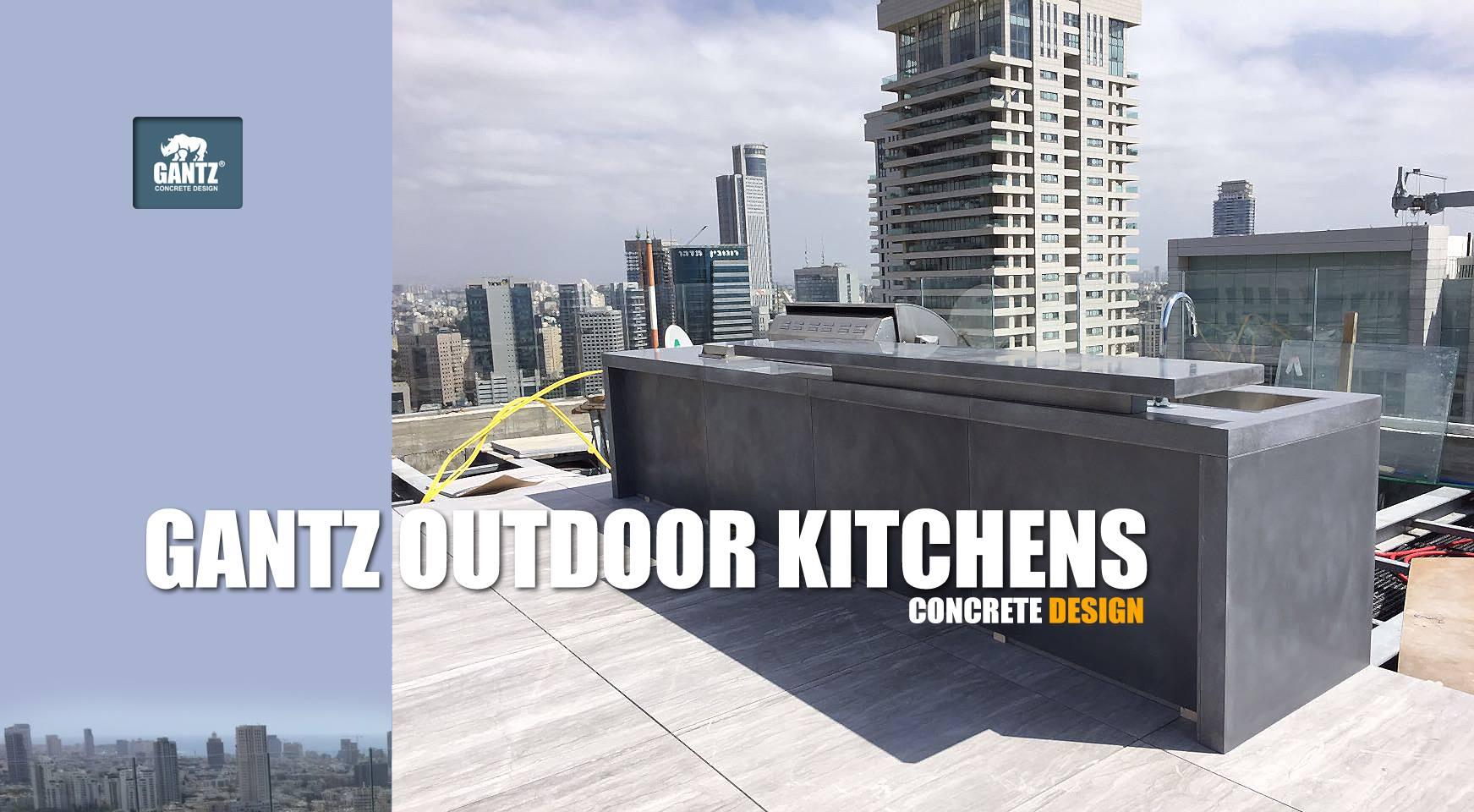 מטבח חוץ בגג דירת פנטהאוז תל אביב