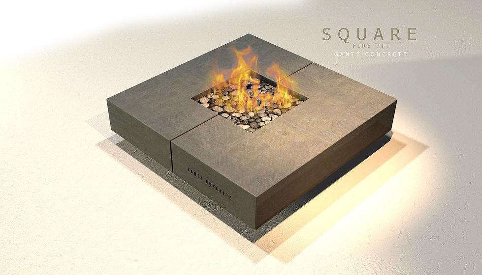 שולחן אש מרובע