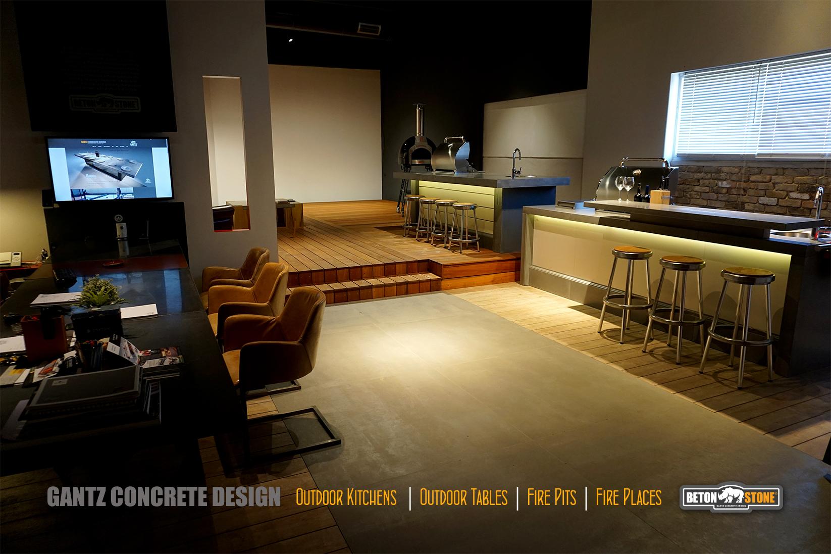 גנץ קונקריט אולם התצוגה למוצרי בטון אדריכלי