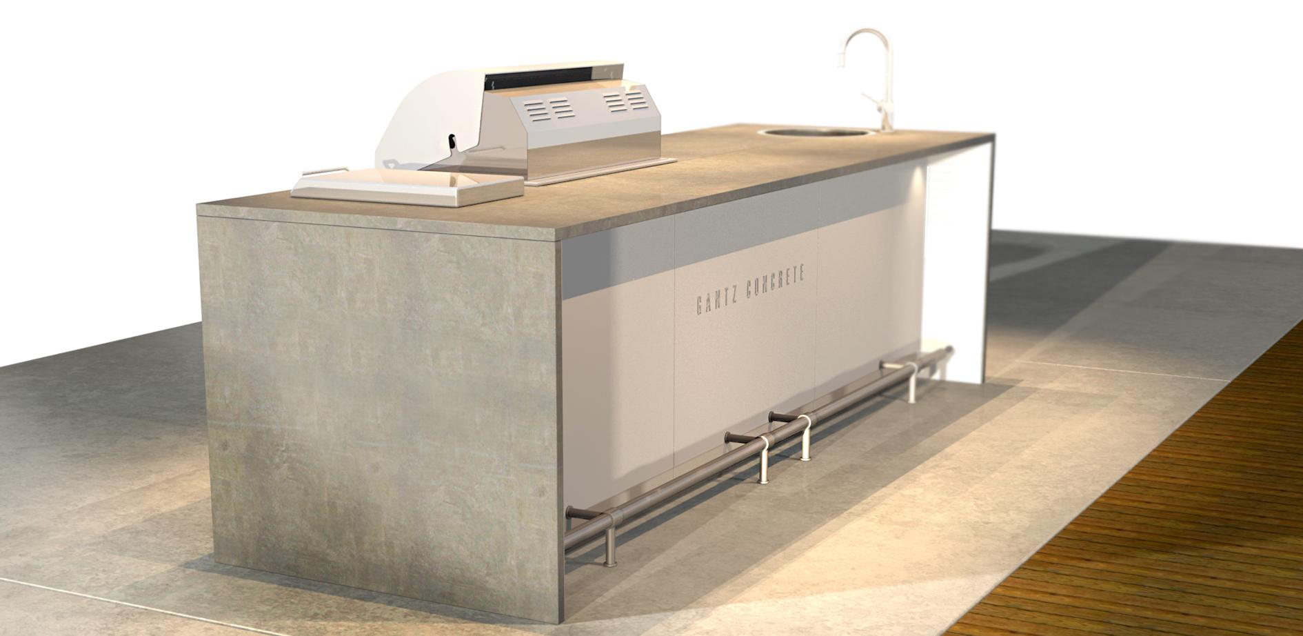 גנץ מטבח חיצוני דגםניאו 4004