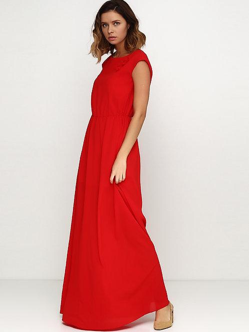 Ошатна довга червона сукня