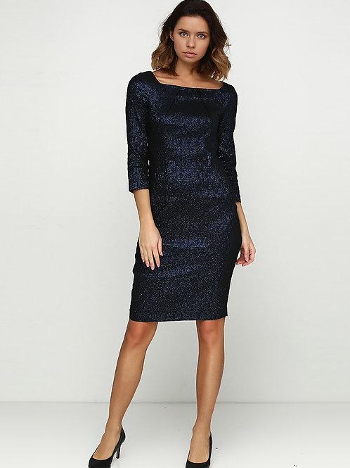 Сукня з елегантним вирізом та люриксом