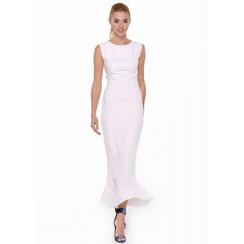 Вечірня біла сукня трампет