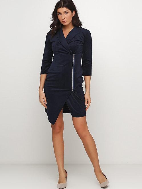 Сукня-кардиган на молнії з асиметричним низом