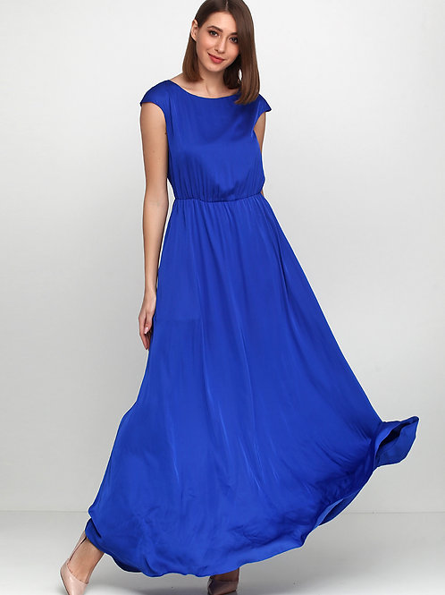 Елегантна сукня яскраво-синього кольору