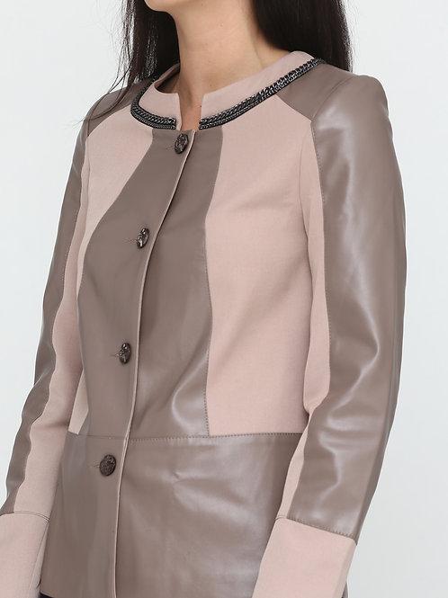 Куртка-трапеція із екошкіри