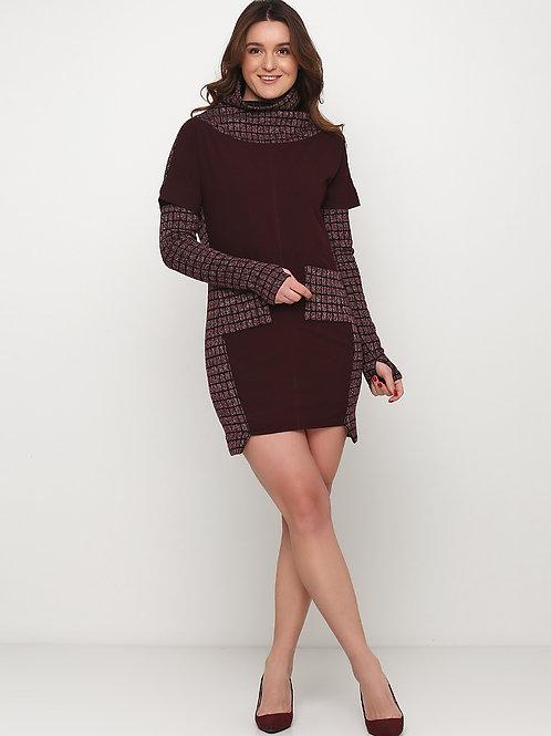 Сукня трикотажна зі з`ємними рукавчиками