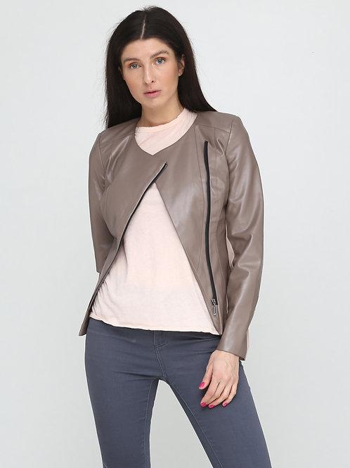 Куртка-косуха бежева