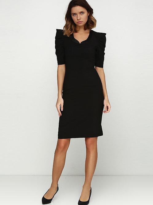 Сукня-футляр з рукавами буф