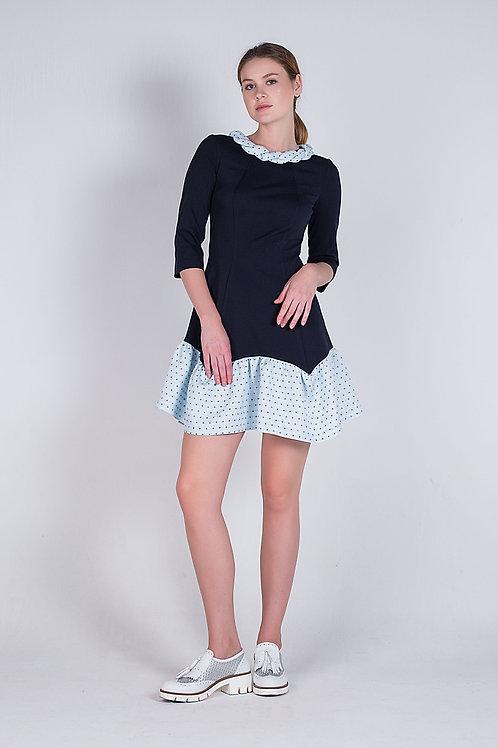 Сукня з жакардовою спідничкою